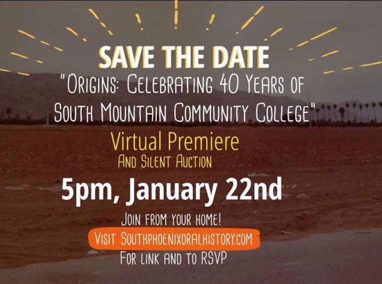 Picture of Origins: Celebrating 40 Years of South Mountain Community College Premiere and Silent Auction